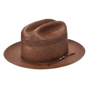 Stetson Open Road Vented 10X Straw Cowboy Hat
