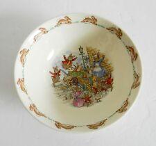 Bunnykins fine bone china child's bowl - bunny scenes