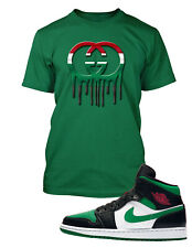 GG Tee Shirt to Match Air Jordan 1 Retro High OG Pine Green Shoe Pro Club Tshirt