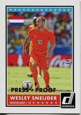 Donruss Soccer 2015 Bronze Parallel [299] Var. Base Card #36 Wesley Sneijder