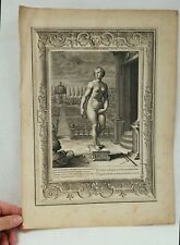 Antique 18th c. Engraving Bernard Picart PYGMALION (1673-1733)