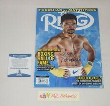 WBO WBA MANNY PACMAN PACQUIAO SIGNED AUTOGRAPHED RING MAGAZINE BAS COA Q91734