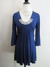 Sky Blue Rhinestone Collar Necklace Mini Dress M EUC