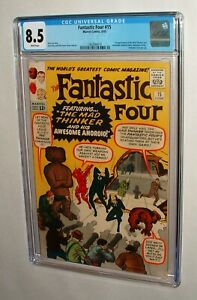 1963 FANTASTIC FOUR ISSUE #15 COMIC BOOK FANTASTIC CGC 8.5 WHITE PAGES