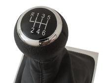 GEAR SHIFT KNOB GAITER BLACK CHROME 6G FOR VW PASSAT B6 05-10 B7 10-14 CC 08-12
