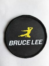 "Flying Kick Bruce Lee Kung Fu  3"" Sublimation Iron Or Sew On Patch Badge"