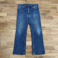 Vintage 80s 90's Levi's 517 Slim Bootcut Medium Wash Denim Jeans 35x32 USA Made