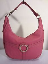 Bubble Gum Pink ITALIAN LEATHER HOBO Shoulder Handbag Purse