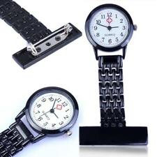 Brand New Vintage Silver Stainless Steel Nurses Pocket Quartz Fob Watch New Aм
