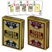 Copag TEXAS HOLD'EM playing cards Jumbo index 100% Plastic Poker size 1 Deck New