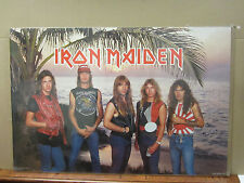 Vintage Iron Maiden 1984 poster heavy metal rock band music artist 3610