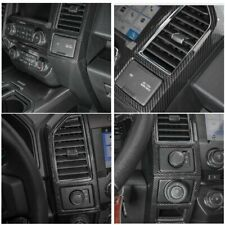 17-20 Ford F250 f350 Molded Carbon Fiber Center Dash Vent Panel Trim Cover
