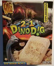 Dig Team 2 In 1 Dino Dig Diplodocus DinosaurBox Set 14 Pcs W/Toy Brand New