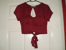 """Top Blouse""""Smart"""" Dark Burgundy Colour Size:S/M New With Tags SALE"""