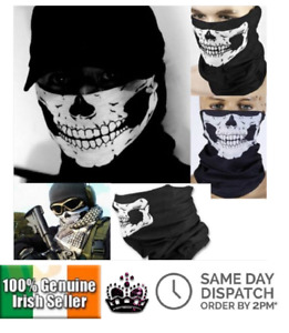 Multi-Use Snood Skull Face Mask Cover Neck Warm Bandana Outdoor Cycling Riding