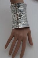 Cute Women Extra Long Silver Metal Cuff Bracelet Fashion Jewelry Wonder Filigree
