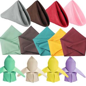 20*20'' Polyester Cotton Napkins For Wedding Table Cloth Linen Dinner Napkin