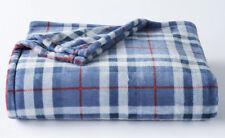 The Big One Plush Super Soft Blue Plaid Oversized Microplush Throw Blanket