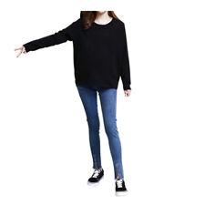 Pregnant Trouser Maternity Jeans Pants Soft Bump Denim Secret Elastic Band New