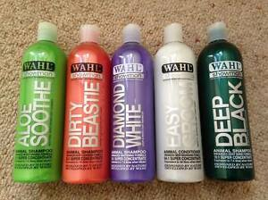 Wahl Horse Shampoo & Conditioner Diamond White, Black, Tea Tree, Aloe etc 500ml