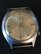 Vintage Rare Mens Bulova Accutron Stainless 218 Running Strong