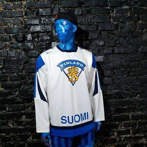 Finland Team Jersey Hockey Shorts IIHF 2012 White Nike 350630-100 Mens Size S