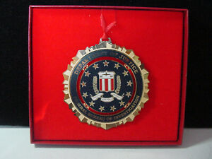 FBI Collectible Christmas Holiday Ornament - HERALDRY OF THE SEAL 1990's UNDATED