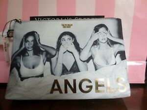 New with tags Victoria Secret cosmetic bag ,color light gray