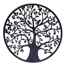 60x60cm Tree of Life Metal Hanging Wall Art Round Hanging Sculpture Garden Decor
