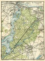 MAP ANTIQUE 1898 KIESSLING GRUNEWALD HAVEL OLD LARGE REPRO POSTER PRINT PAM0383