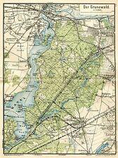 MAP ANTIQUE 1898 KIESSLING GRUNEWALD HAVEL OLD LARGE REPRO POSTER PRINT PAM0383