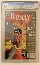 Batman #428 CGC 9.8 WHITE Pages Part 3 Death in the Family Story NEWSSTAND