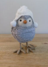 Owl Decor Winter Bird Grey Country Rustic Home feathery freinds Gift New