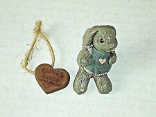 "New listing Sarah'S Attic Rabbit Tessy #1315 Sits Upright with heart & Coa 2 1/2"" long New"