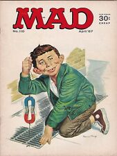 Vintage April 1967 MAD Comic Magazine #110 Alfred E Neuman LL