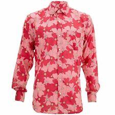 Corte Normal Manga Larga Camisa Loud Originals Rojo Tropical Floral Psicodélico