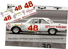 CD_1773 #48 James Hylton  1965 Dodge Coronet  1:64 scale decals  ~OVERSTOCK~