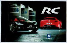 2002 Peugeot RC Concept Car Original Brochure Depliant Prospekt