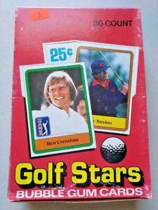 1981 Donruss Golf Stars Full Wax Box 36 Packs Unopened Possible Jack Nicklaus RC