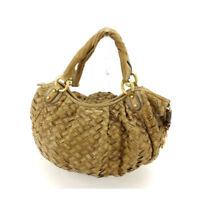 miumiu Shoulder bag Beige Gold Woman Authentic Used A1117