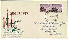 1959 AUSTRALIA 5d Christmas (2) FDC
