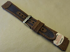 New Timex Expedition Brown Blue Water Resistant Leather 19mm Sport Watch Band