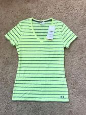 WOMENS UNDER ARMOUR CHARGED COTTON YELLOW HEAT GEAR TOP SIZE SMALL NWT