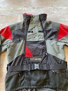 NORTH FACE Men's Steep Tech Scot Schmidt Black and Red Jacket Size XL Vintage