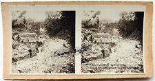 PHOTO STEREO ravin de VAUX Somme Poste général Pouydraguin guerre 14 18 s522