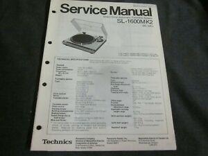 Technics SL-1600MK2 service manual 42 pages original