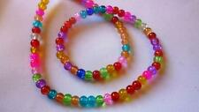 100 Stück CRACKLE – 4mm – BUNT MIX – Glasperlen - Glas Beads von Bastelconcepte