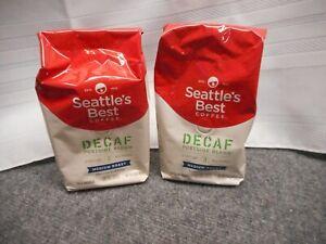 Seattle's Best Coffee DECAF Portside Blend MEDIUM ROAST 3 12 FL OZ x2 Exp 7/22