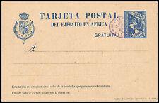1921.Ed:(*)EP2A.E.P.Militar.Ejercito Africa.Azul.Sin valor.Marca Compañía/Leg