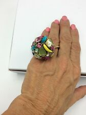 $55 Betsey Johnson Fruit Calypso Cocktail Ring   BT-21